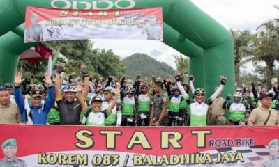 Road Bike 8 Penjuru Mata Angin bersama Danrem 083 dan Dandim 0818, Wujud Kemanunggalan TNI dan Rakyat