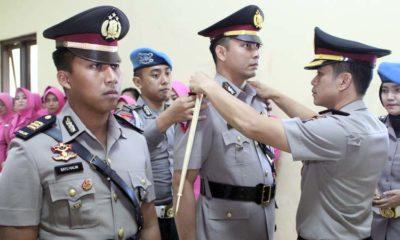 Kapolres Pasuruan Lantik 4 Perwira, AKP Achmad RDN Jadi Kasat Lantas