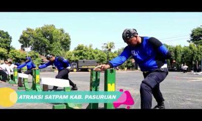 Merpati Putih Panverta Hebohkan HUT Satpam di Polres Pasuruan