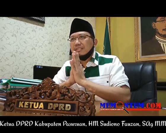 Ketua DPRD Kabupaten Pasuruan, HM Sudiono Fauzan, SAg MM