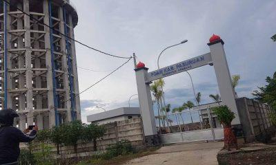 Tampak Lokasi Proyek pembanguanan jaringan SPAM di Kecamatan Rembang Kabupaten Pasuruan